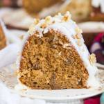WHISKEY WALNUT SPICE CAKE