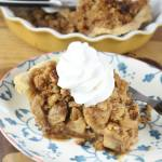 APPLE PIE WITH PECAN CRUMBLE ️