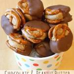 CHOCOLATE AND PEANUT BUTTER PRETZEL SANDWICHES