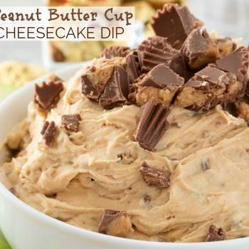 PEANUT BUTTER CUP CHEESECAKE DIP