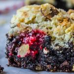 Raspberry Almond Crumb Brownies