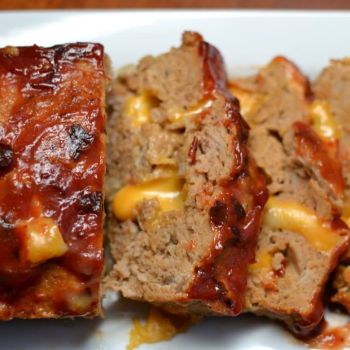 Colby Jack Meatloaf with Chipolte Kitchup