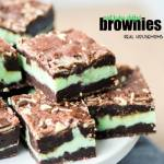 Mint Fudge Stuffed Brownies
