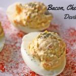 Bacon Cheddar Onion Deviled Eggs