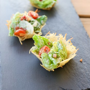 HEALTHY CAESAR SALAD CHEESE CUPS