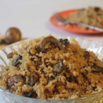 MUSHROOM BROWN RICE~ LOW FAT ~ GLUTEN FREE