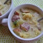 Roasted Broccoli Cauliflower Potato Soup