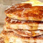 Cinnamon Sugar Sour Cream Pancakes