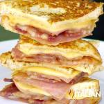 Bacon Monte Cristo Finger Sandwiches
