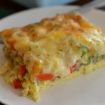 Cheesy Pepper Asparagus Breakfast Casserole