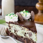 Thin Mint Cheesecake Brownie Cake