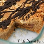 Triple Peanut Butter Cookie Bars