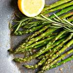 Skillet Roasted Asparagus with Garlic, Rosemary & Lemon