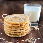 Crispy Chewy Oatmeal Cookies