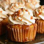 Salted Caramel Carrot Cake Cupcakes