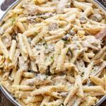 One-Pot Creamy Mushroom Chicken Pasta