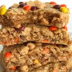 Triple Peanut Butter Monster Cookie Bars