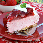 No Bake Strawberry Ice Cream Cake