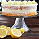 Naked Lemon Sour Cream Cake
