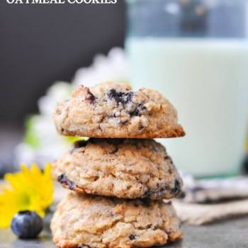 Blueberry Muffin Oatmeal Cookies