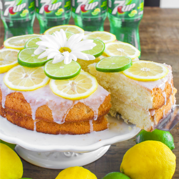 7UP Cake from Scratch with Lemon Lime Glaze