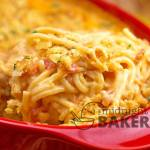Rotel Cheesy Chicken Spaghetti Casserole