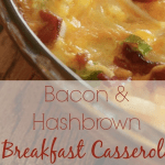 Bacon & Hashbrown Breakfast  Casserole