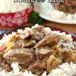 Crock Pot Chuck Roast over Rice