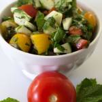 Tomato Cucumber Mint Salad