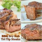 BBQ Dry Rub Tri Tip Steaks