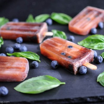 Chianti, Blueberry and Basil Icepops