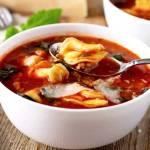 One Pot Italian Tomato Tortellini Soup