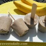 Frozen Chocolate Chip Banana Yogurt Pops