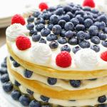 Blueberries and Bavarian Cream Cake