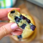 Sour Cream Blueberry Banana Muffins