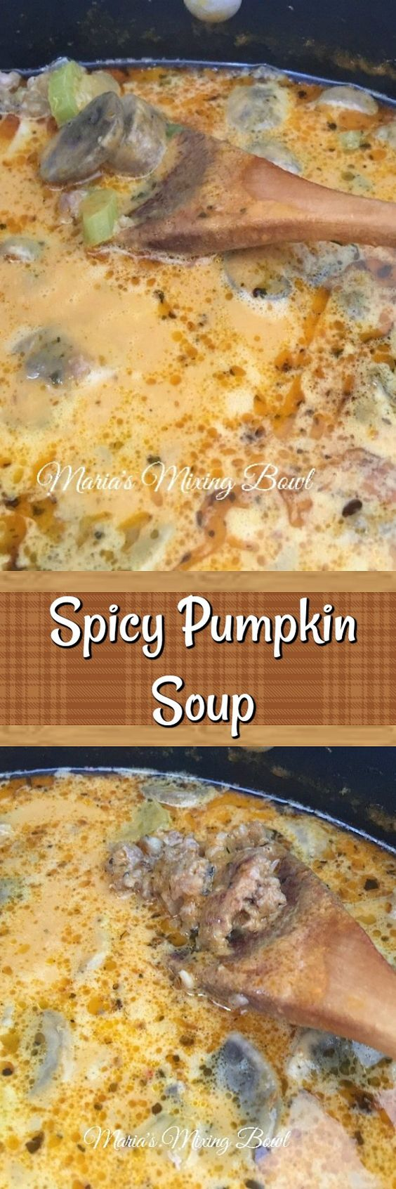 This is the best spicy pumpkin soup!  It is full of flavor and has just enough spice in it. We love it and make it all the time. Yes even in the summer months. It's that good. But it's a hearty and warming soup perfect for warming up on a cold day.
