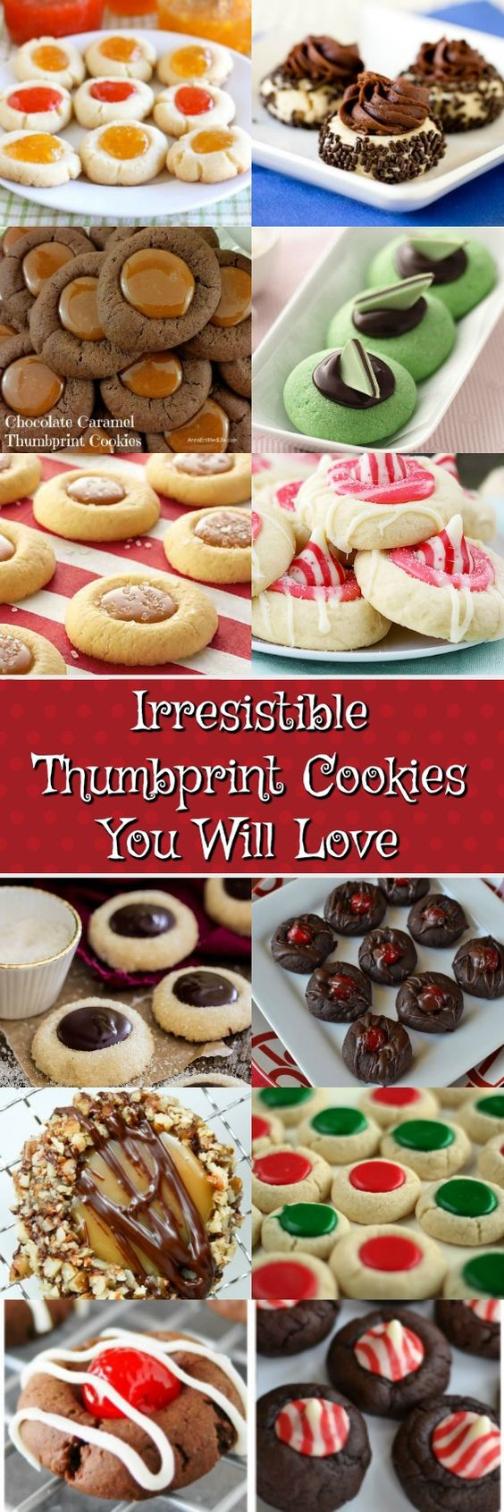 Thumbprint Cookies are the perfect cookies for any occasion! There are so many different kinds to make. Who knew?! Fill up your Christmas Cookie Tray, Make a gift tray for friends, great for cookie swaps or just because you want to make some delicious treats to keep in the house. Enjoy one or enjoy them all.