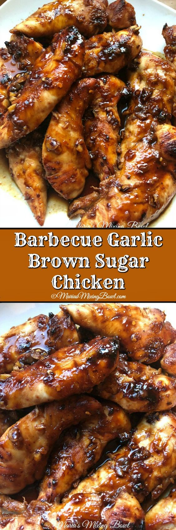 Barbecue Garlic Brown Sugar Chicken is a smoky, slightly sweet chicken with just a bit of spice. The flavors are perfect together. They all compliment each other amazingly well!