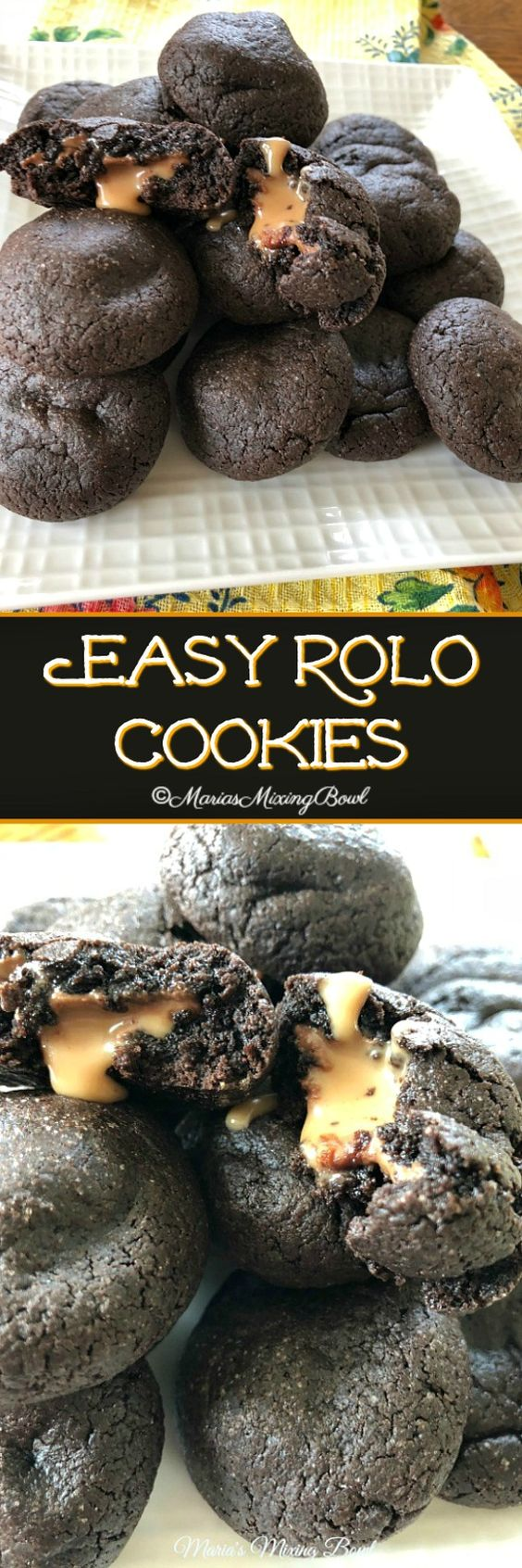 Easy Rolo Cookies are so easy to make! cake mix and Rolo candies make this a favorite cookie in our house! Sometimes we make a double batch!