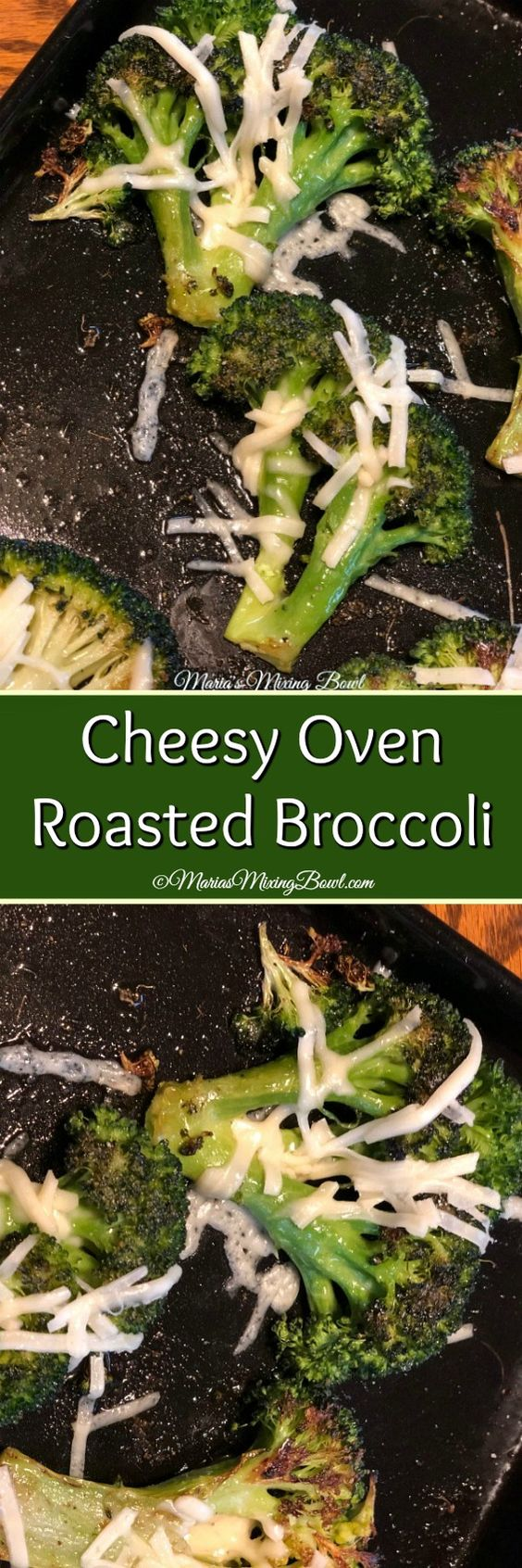 Cheesy Oven Roasted Broccoli is our favorite way to make broccoli. Oven roasted broccoli has so much flavor. Then add some flavorful cheese and you have a winner!