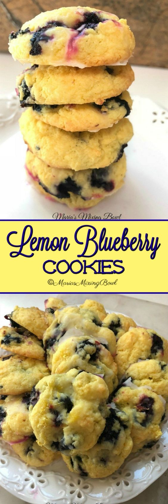 Lemon Blueberry Cookies are AMAZING! Seriously they came out of the oven and we could hardly keep our hands off of them.