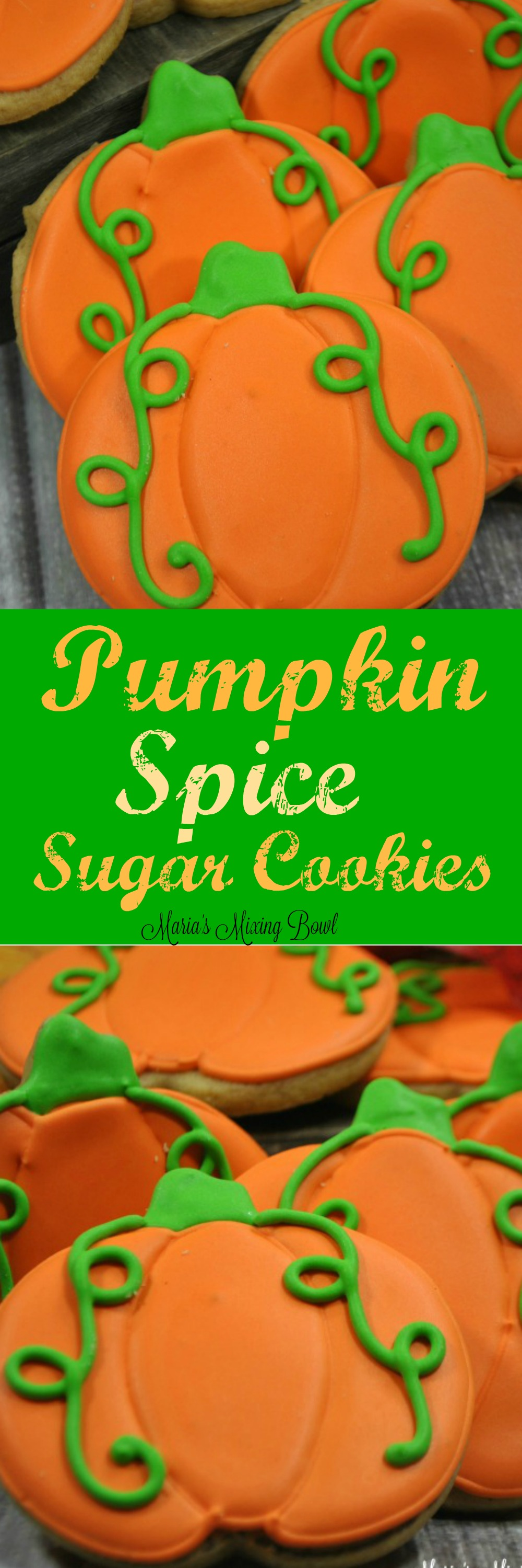 Pumpkin Spice Sugar Cookies - Fall is in the air and that means it's pumpkin everything time! Pumpkin Spice Sugar Cookies actually have pumpkin in the cookie!