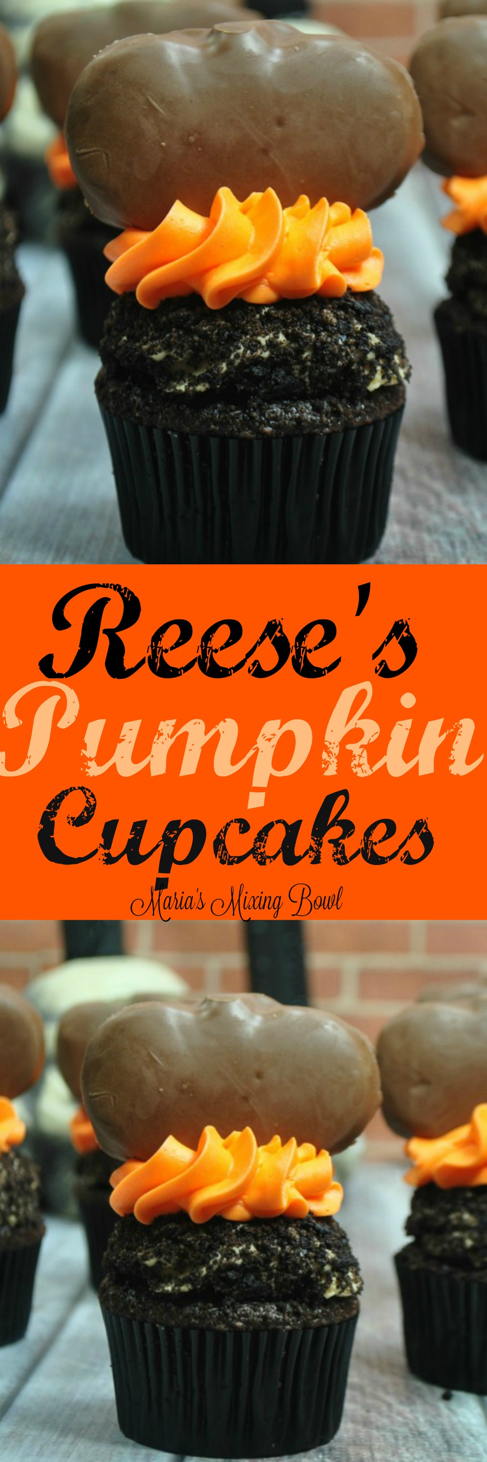 Reese's Pumpkin Cupcakes - It's no secret to anyone that knows me that I love peanut butter and chocolate. There is nothing better than Reese's pumpkins this time of year! Place on top of a chocolate cupcake that is frosted...OMG!!