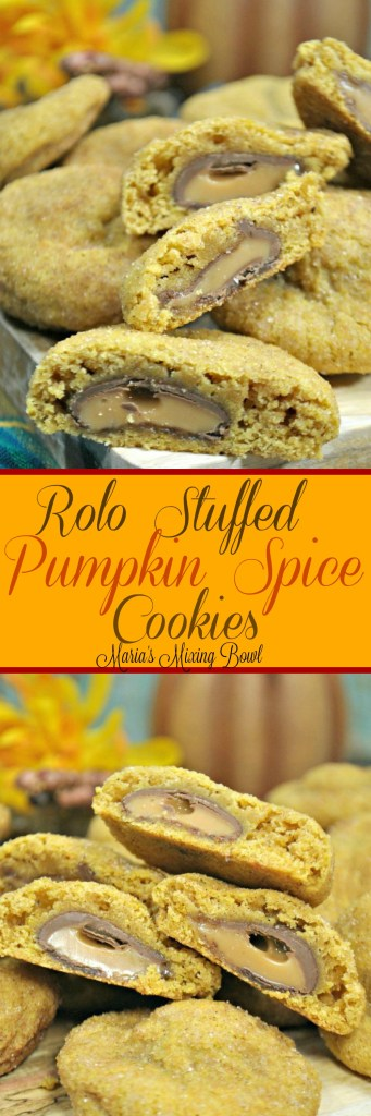 rolo Stuffed Pumpkin spce Cookies