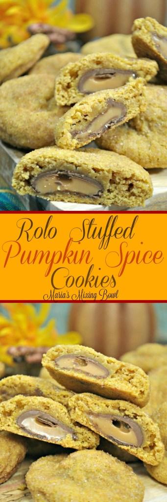 rolo Stuffed Pumpkin spce Cookies