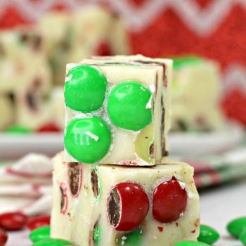 M&M White Chocolate Fudge
