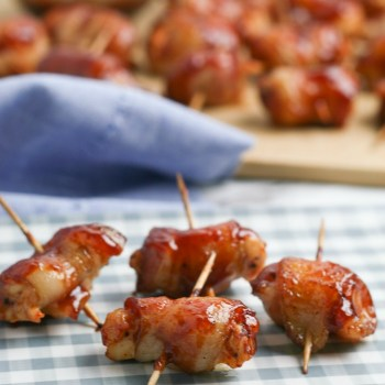 Bacon Wrapped BBQ Chicken Bites