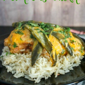 Slow Cooker Poblano Salsa Chicken