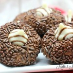 Chocolate Sprinkle Thumbprint Cookies