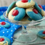 Cherry Almond Thumbprint Cookies